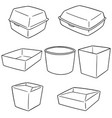 set of paper food container vector image