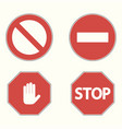 set prohibitory road signs vector image