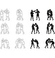 Silhouette Exercising Boxeo b vector image