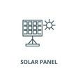 solar panel line icon linear concept vector image vector image