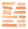 sticky patch or plaster elements set vector image vector image