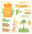 Sugar elements set vector image vector image