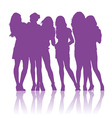 Teenage schoolgirls talking to each other vector image vector image
