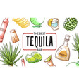 tequila best refreshment bar and beverage vector image