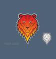 tiger logo design vector image
