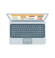 Top view of modern retina laptop keyboard isolated vector image vector image