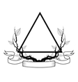 Triangle tattoo art design vector image vector image
