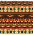 Tribal ethnic seamless stripe pattern on orange vector image vector image