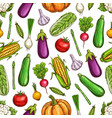 vegetables and beans seamless pattern background vector image vector image