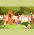 who live in hollow kids puzzle game quiz vector image