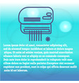 modern conditioner with cold air flow at home vector image