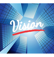 Vision concept with abstract background vector image