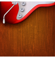 abstract grunge music background with red electric vector image vector image