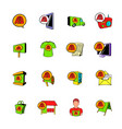 advertisement set icons set cartoon vector image vector image