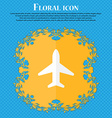 Airplane Plane Travel Flight Floral flat design vector image vector image