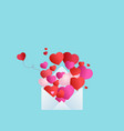 background valentines day balloons in form of vector image vector image
