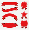 banners and ribbons labels set vector image vector image