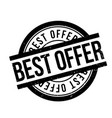 best offer rubber stamp vector image
