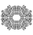black and white vintage vignette the object is vector image vector image