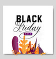 black friday banner leaves background vector image vector image