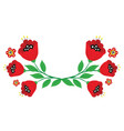 branches poppy flowers from bright cartoon vector image vector image