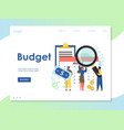 budget website landing page design template vector image vector image