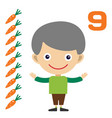 cartoon boy learning game card vector image vector image