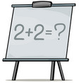 cartoon school whiteboard for mathematic vector image