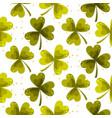 clover trefoil leaf seamless pattern vector image vector image