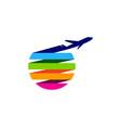 color travel logo icon design vector image