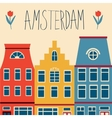 Cute Amsterdam houses set vector image