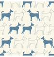 Cute doodle seamless pattern of dog silhouettes vector image