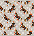 dark horse grey and orange seamless pattern vector image vector image