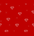 diamond seamless pattern red background with vector image vector image