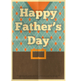 fathers day poster waistcoat vector image vector image