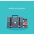 Flat portfolio with office vector image vector image