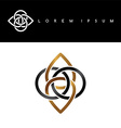 flower symbol gold black monochromatic abstract vector image vector image