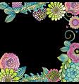 flower wedding card succulent rose leaves frame vector image vector image