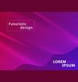 futuristic template design background modern vector image vector image