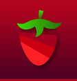 garden strawberry fruit or strawberries flat vector image