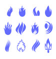 gas industry blue symbol set vector image vector image