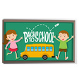 Girl and boy back to school vector image