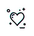 glitch heart icon vector image