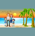 happy family on holiday vector image