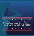 happy veterans day traditional patriotic vector image vector image