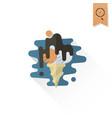 ice cream in a cone vector image