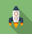 Icon of Rocket Flat style vector image vector image