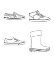 isolated object of man and foot symbol collection vector image