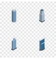 isometric skyscraper set of skyscraper business vector image vector image