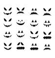 jack o lantern smile silhouette symbol icon vector image
